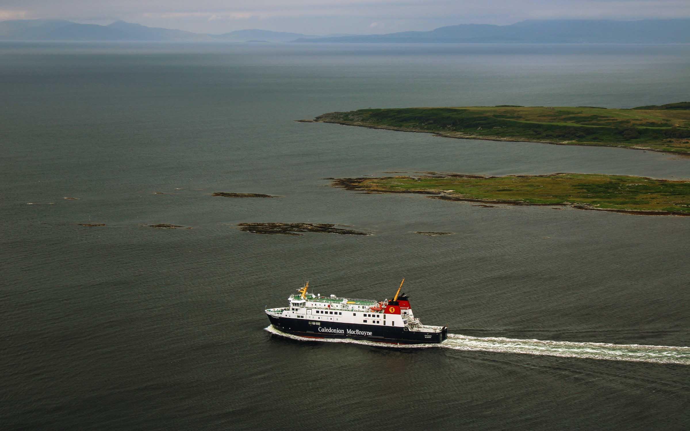 Finlaggan leaving West Loch Tarbert (Ships of CalMac)