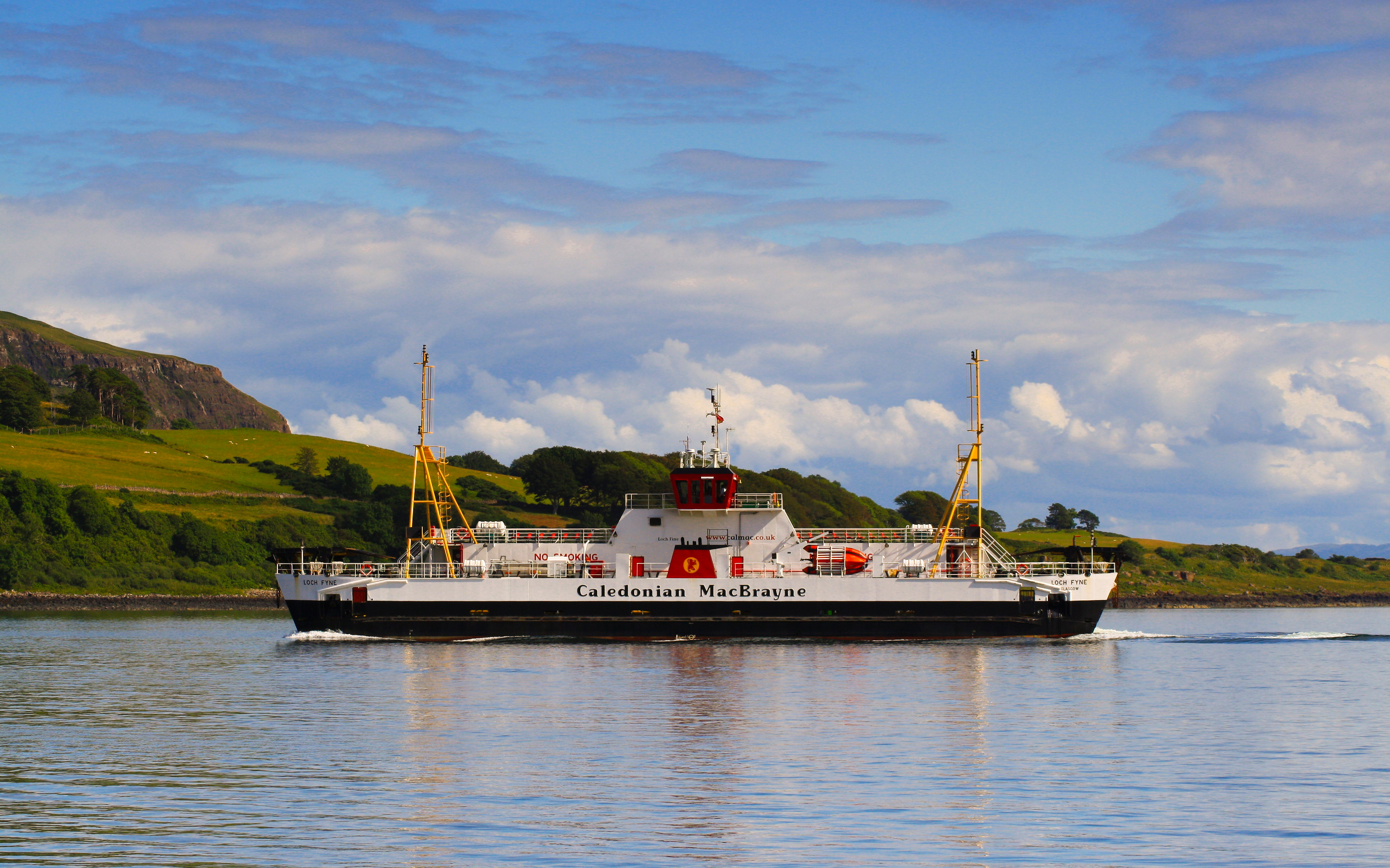 Loch Fyne crossing to Lochaline (Ships of CalMac)