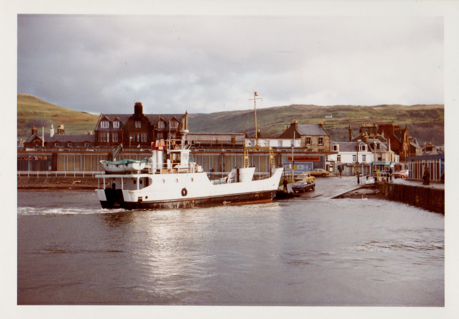 Coll at Largs slipway (Jim Aikman Smith)