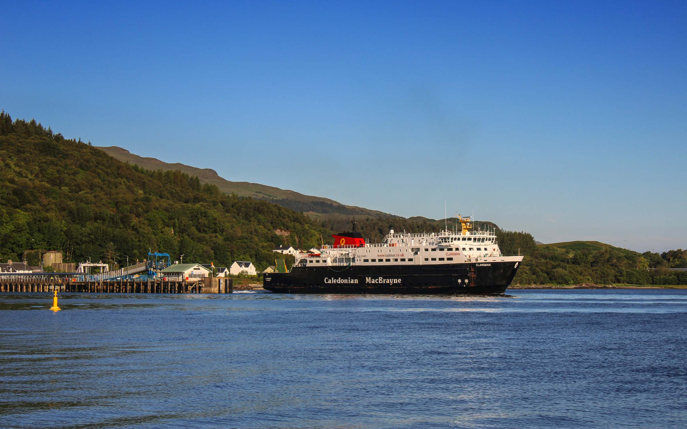 Clansman leaving Craignure (Ships of CalMac)