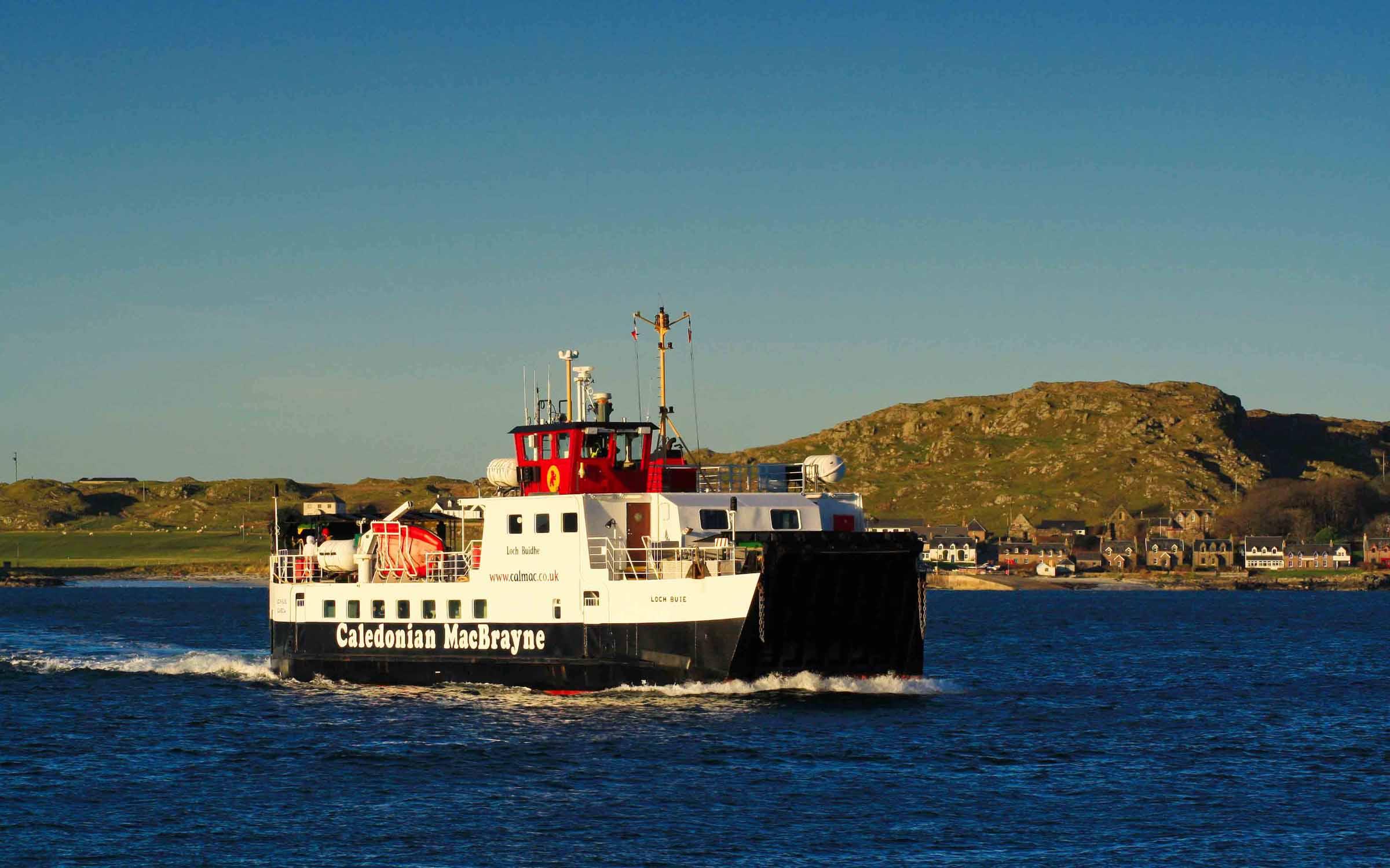 Loch Buie approaching Fionnphort (Ships of CalMac)