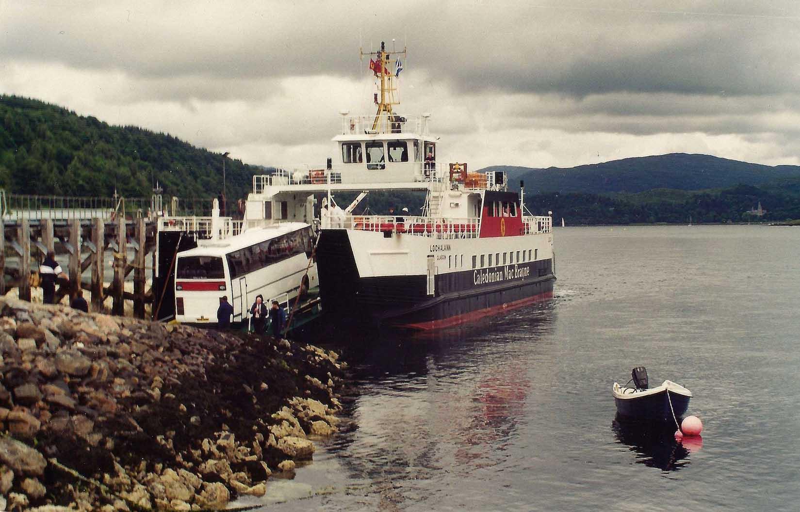 Loch Alainn on berthing trials at Lochaline (Iain McPherson)
