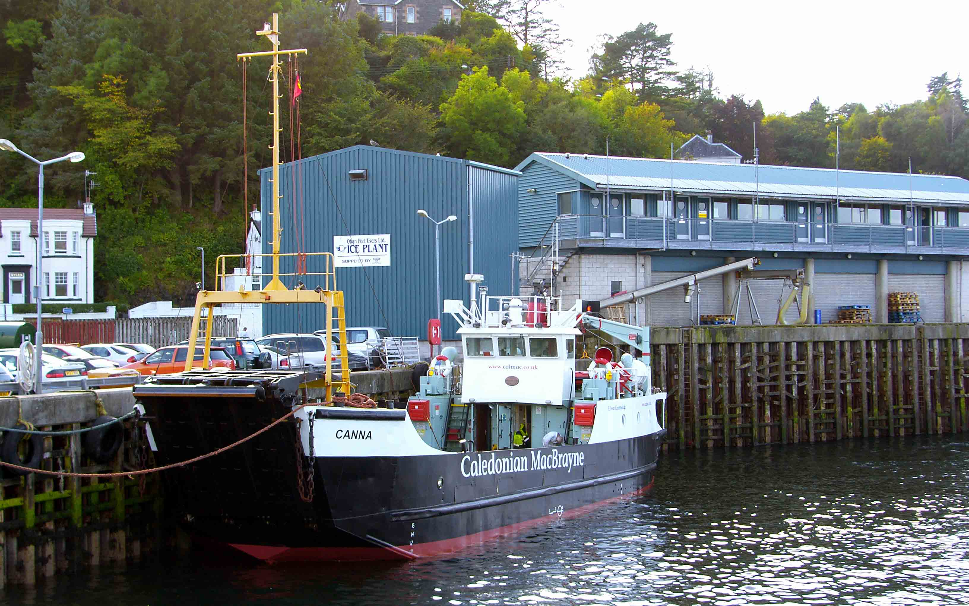 Canna lying at Oban's layby berth (Ships of CalMac)