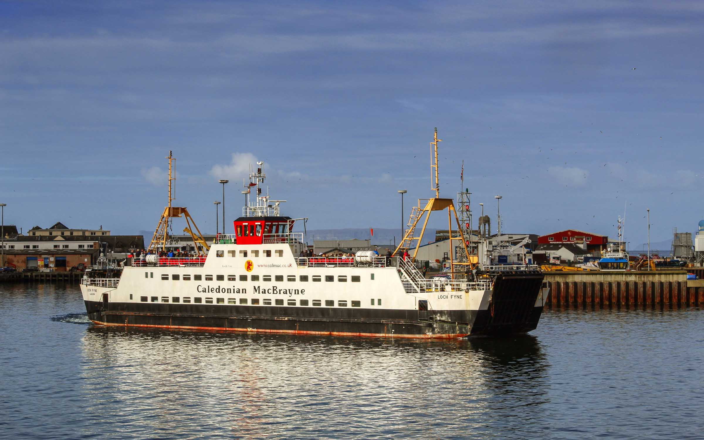 Loch Fyne leaving Mallaig (Ships of CalMac)