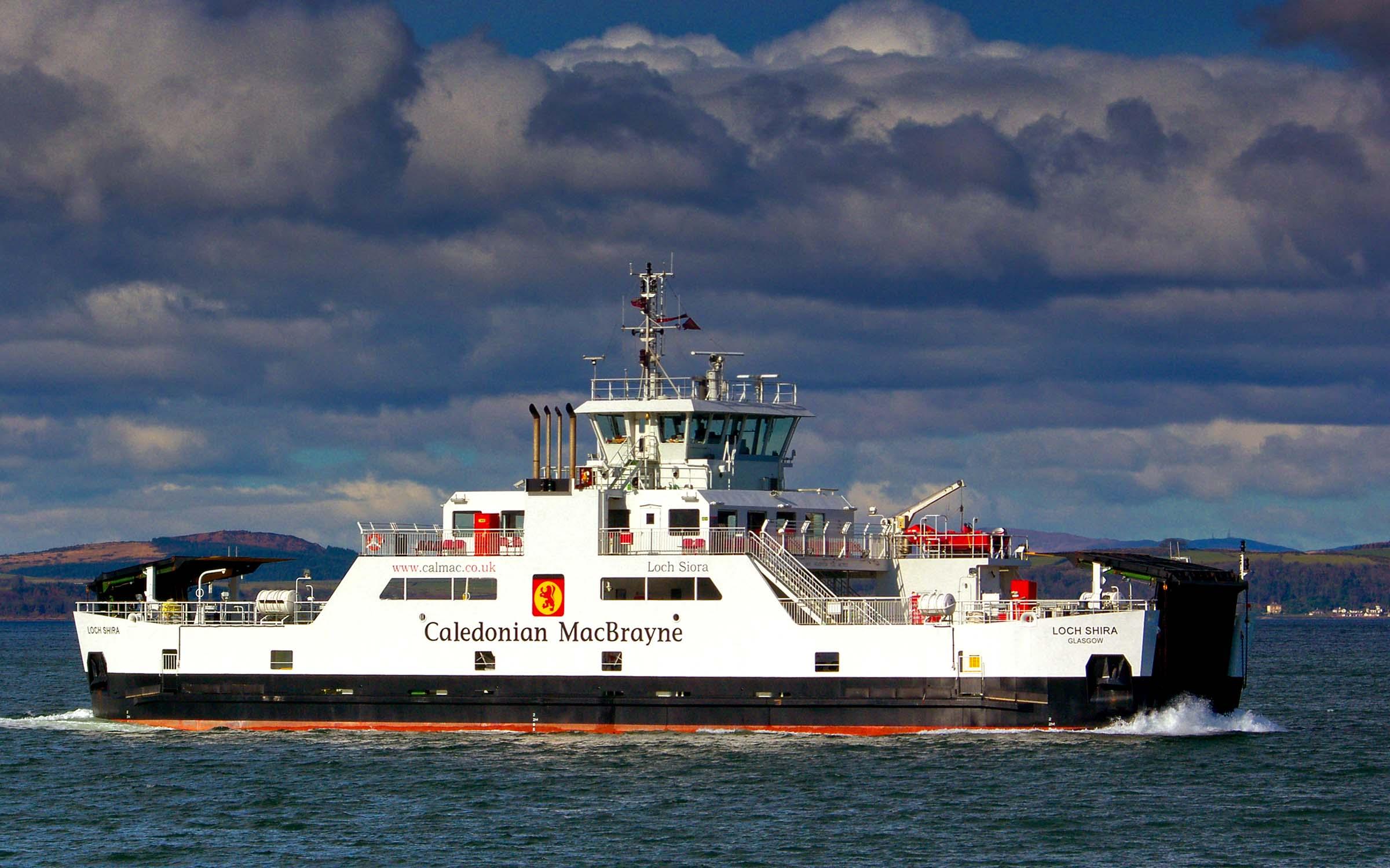 Loch Shira approaching Largs (Ships of CalMac)