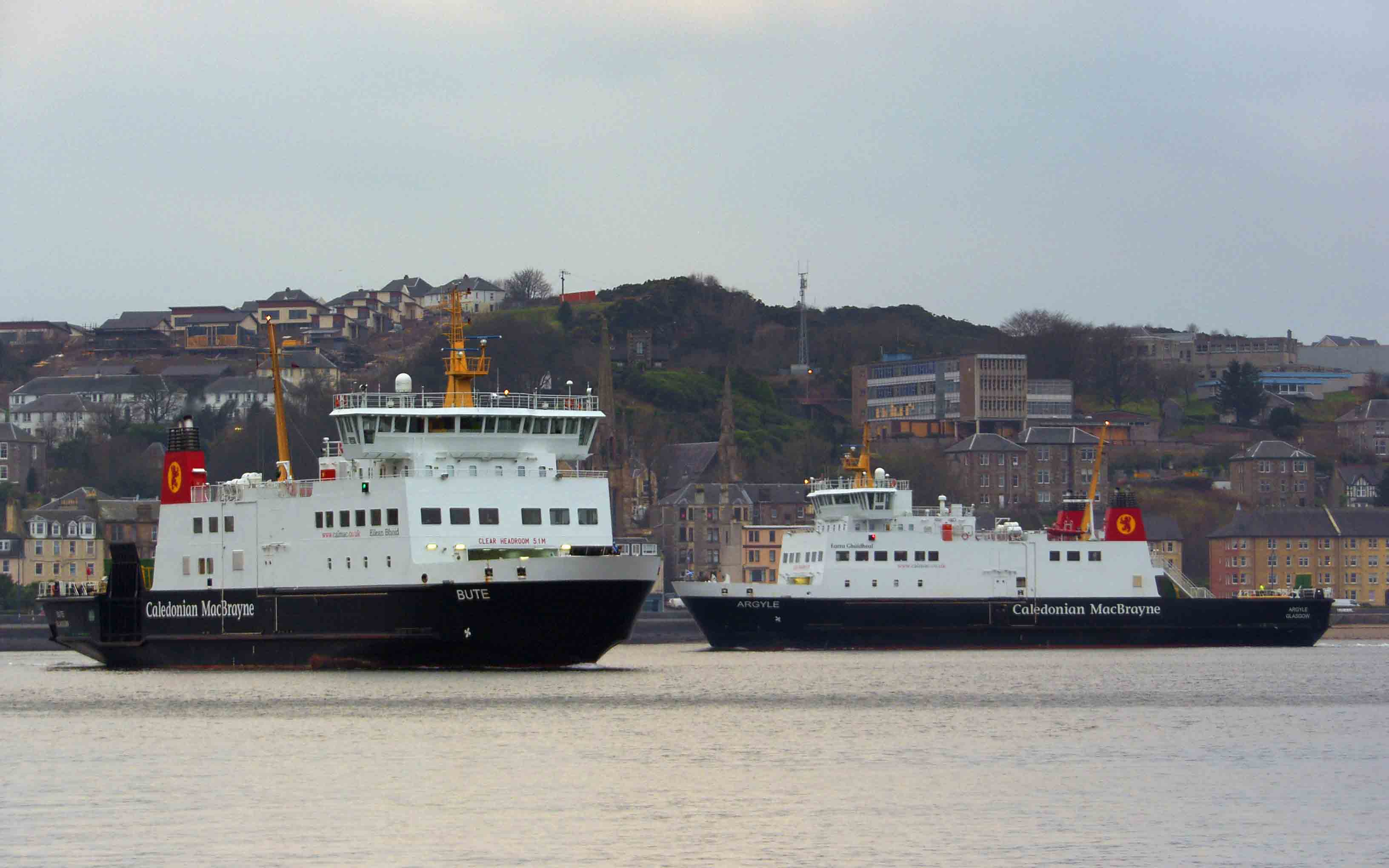 Bute and Argyle together at Rothesay (Ships of CalMac)