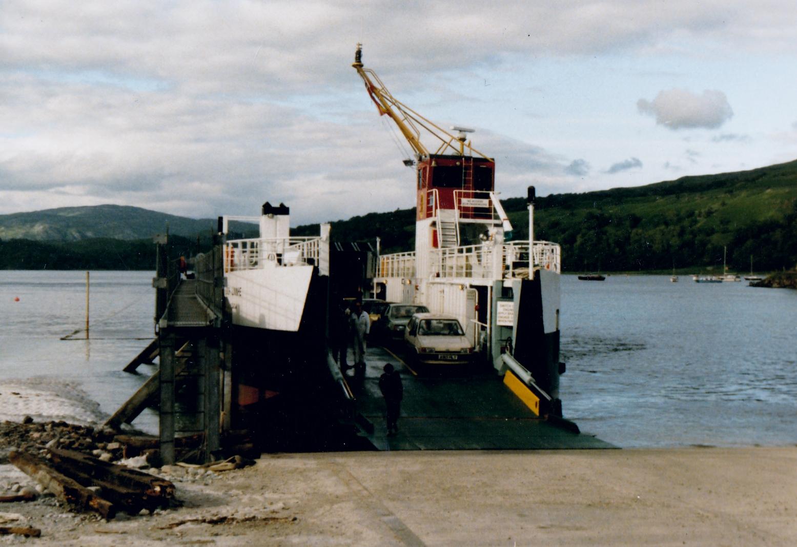 Loch Linnhe new in service at Lochaline (Jim Aikman Smith)