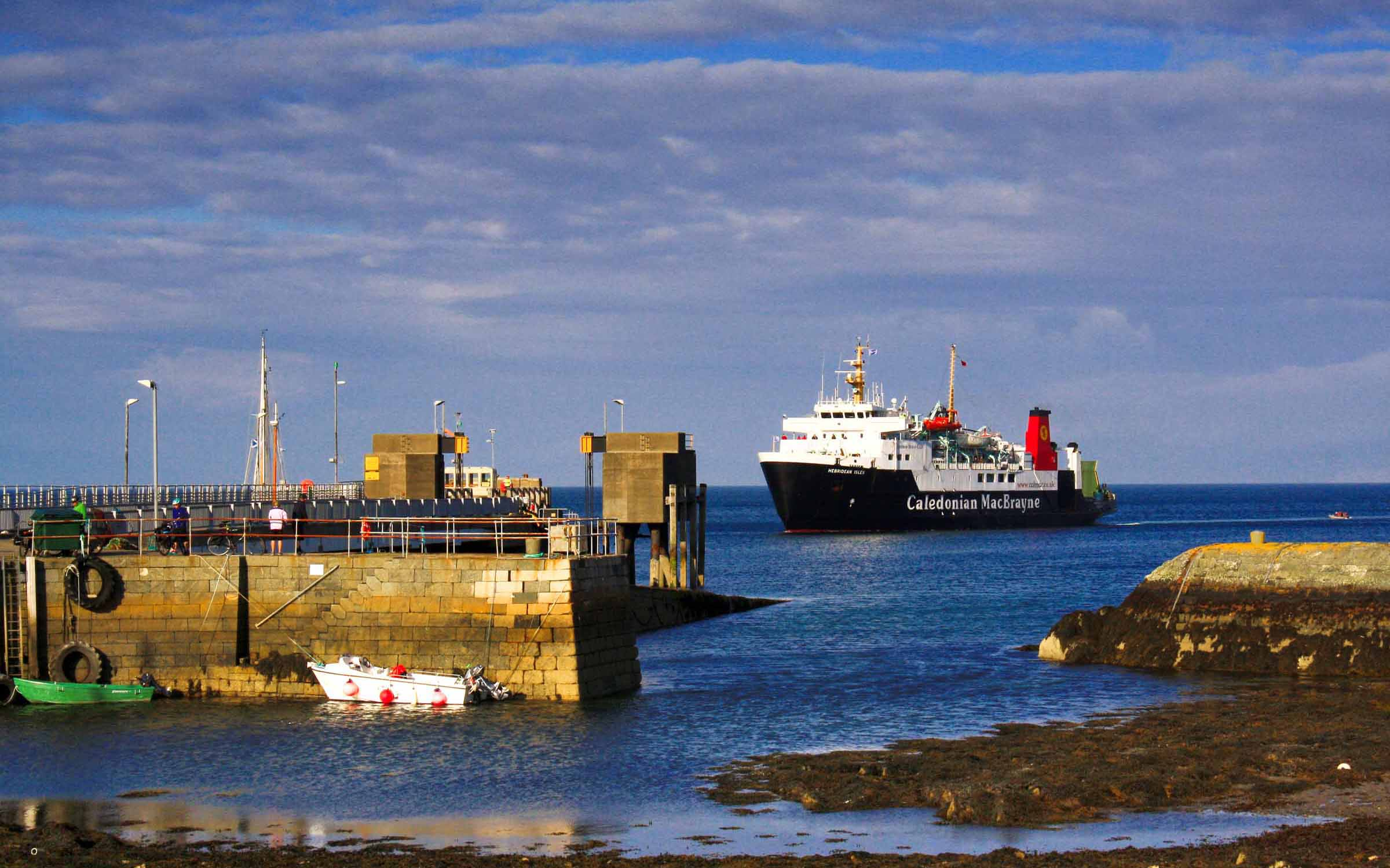Hebridean Isles arriving at Colonsay (Ships of CalMac)
