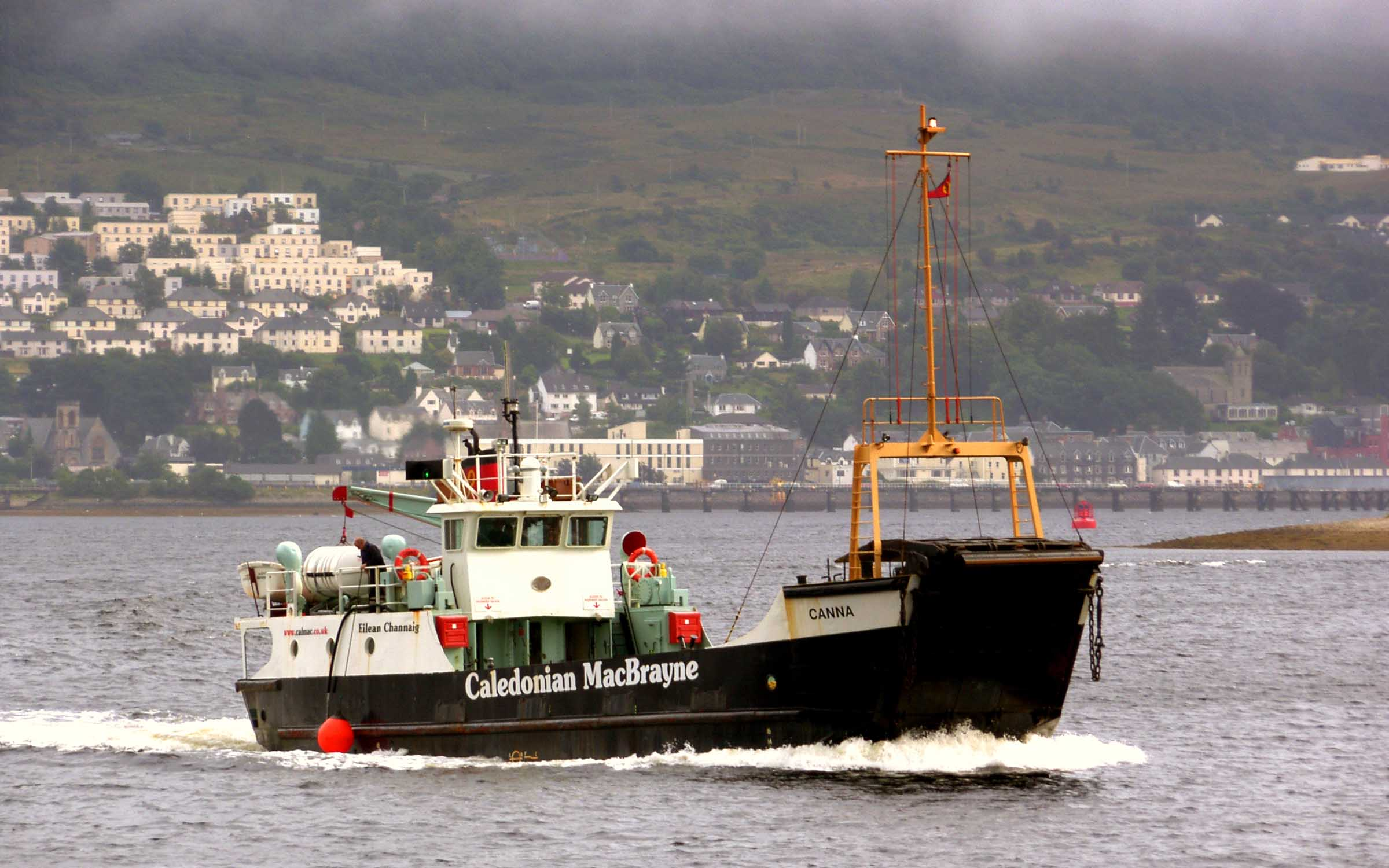 Canna near Fort William (Ships of CalMac)