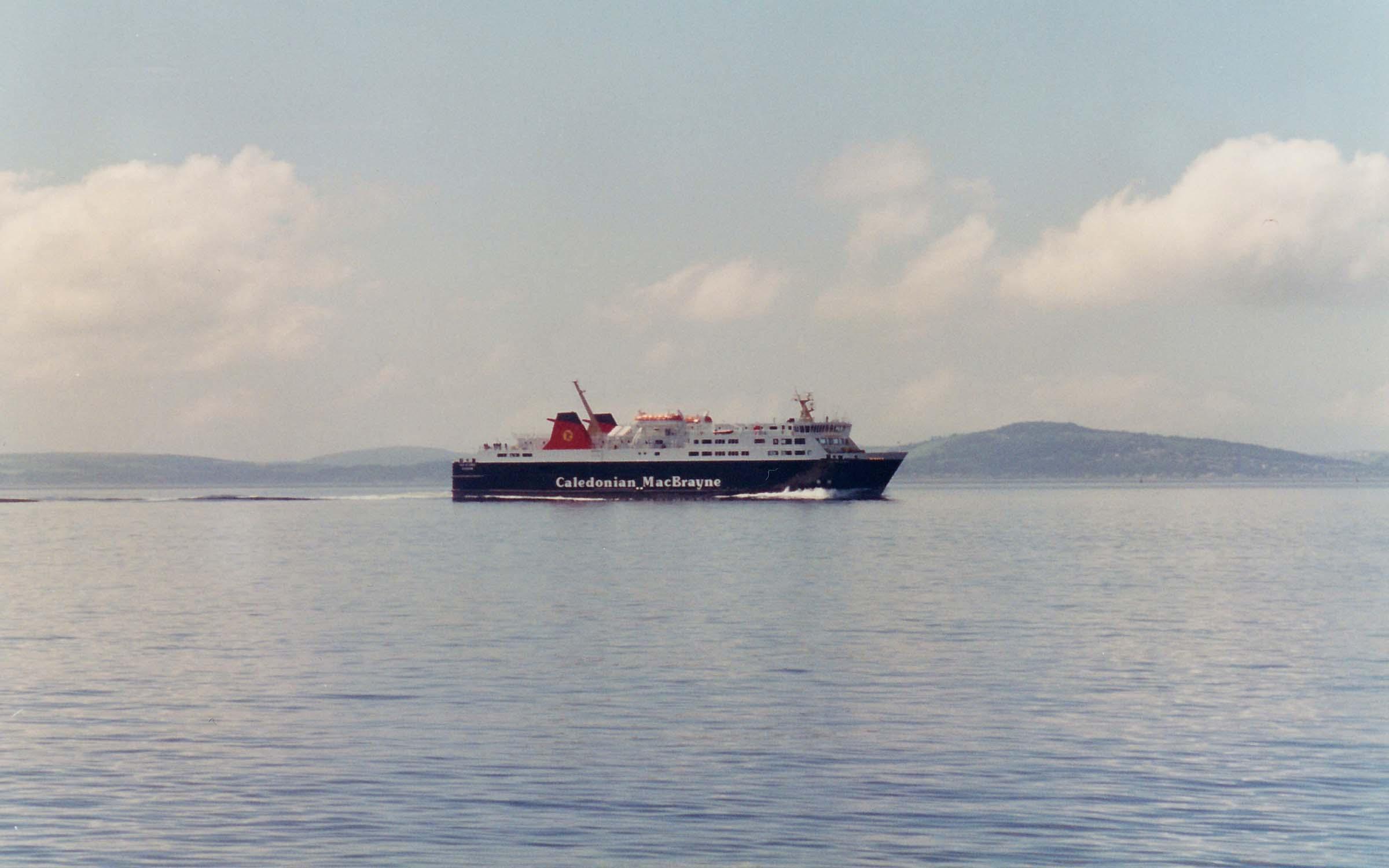 Isle of Lewis undergoin speed trials off Skelmorlie (Ships of CalMac)
