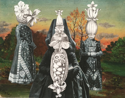 THE WEYWARD SISTERS | 2017 | Mixed Media Collage