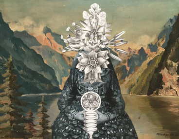 THE LADY OF THE LAKE | 2017 | Mixed Media Collage