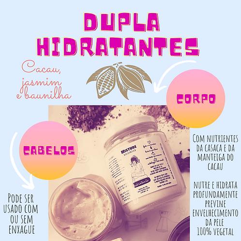 Dupla hidratação: hidratante capilar e hidratante corporal (220ml cada)