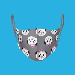 panda face mask design