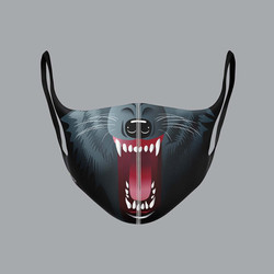 wolf face mask design
