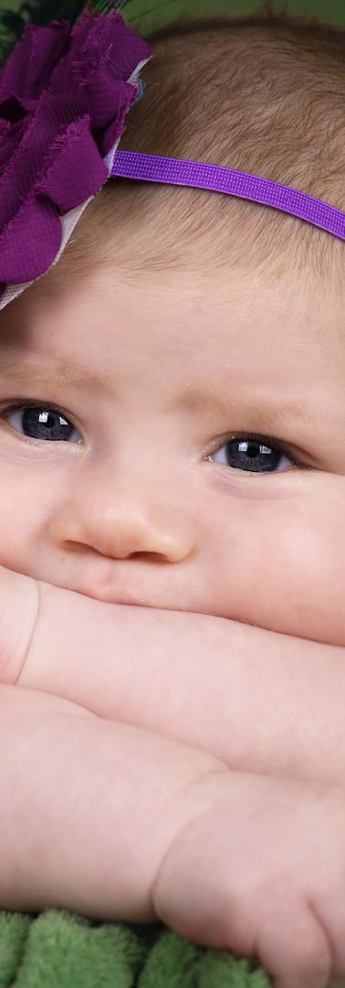 beautiful baby's eyes