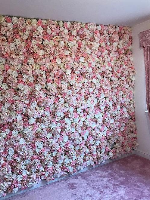 Lexie FlowerWall, Bedroom FlowerWall, Nursery Decor, Wall of Flowers, Pink FlowerWall