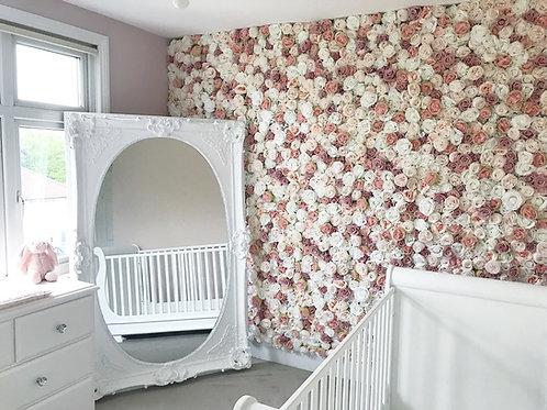 nursery flower wall, bedroom flower wall, bedroom flowerwall