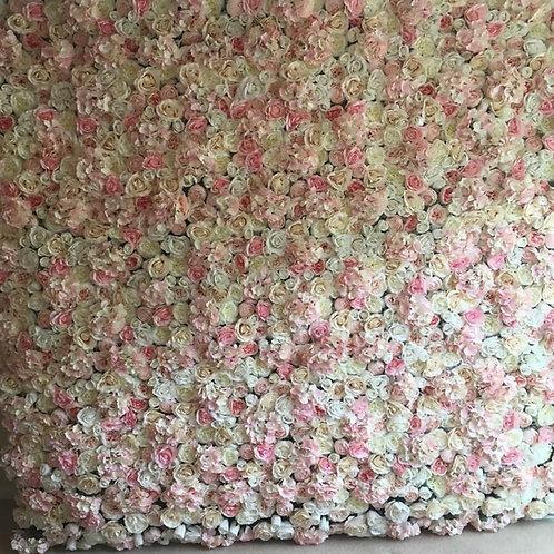 White Ivory Blush FlowerWall Flower Wall UK London Hire Buy Pink Wedding