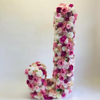 J Floral Letter