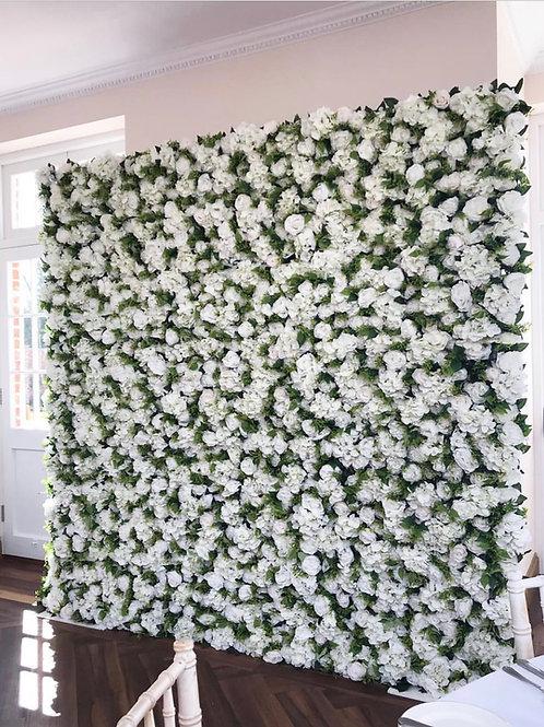Ivory Roses flower wall, Hydrangea flower wall, roses flower wall