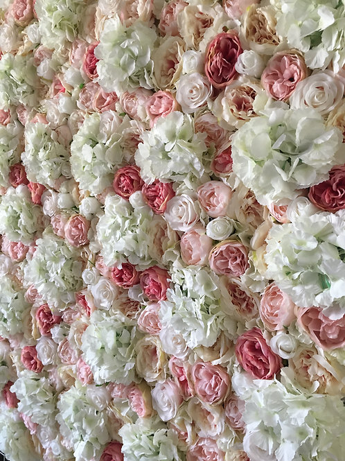 White Ivory Blush FlowerWall Flower Wall UK London Hire Buy Pink Wedding
