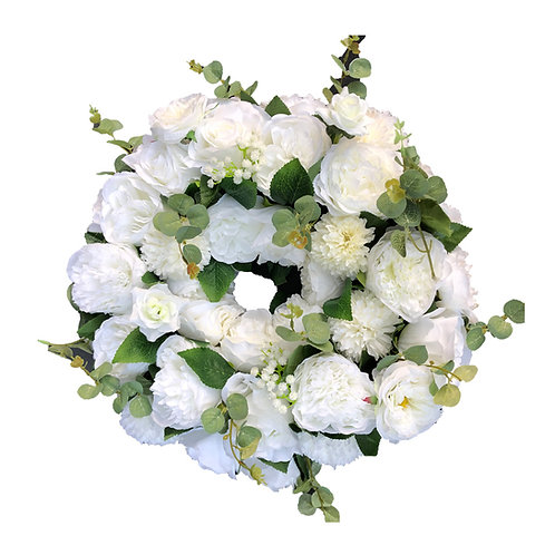 floral wreaths, wedding floral wreaths, white floral wreath, wedding centrepiece, wedding table decor, candelabra flowers,