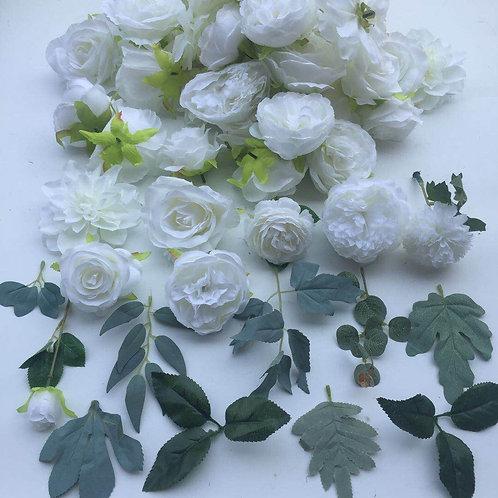 Camilla Flower Heads & Foliage, silk flower heads, single flowers, loose flowers