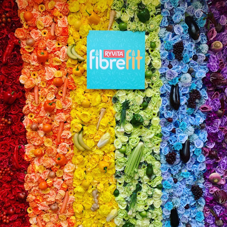 Rainbow Flowerwall
