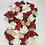 Red Artificial Flower Wall