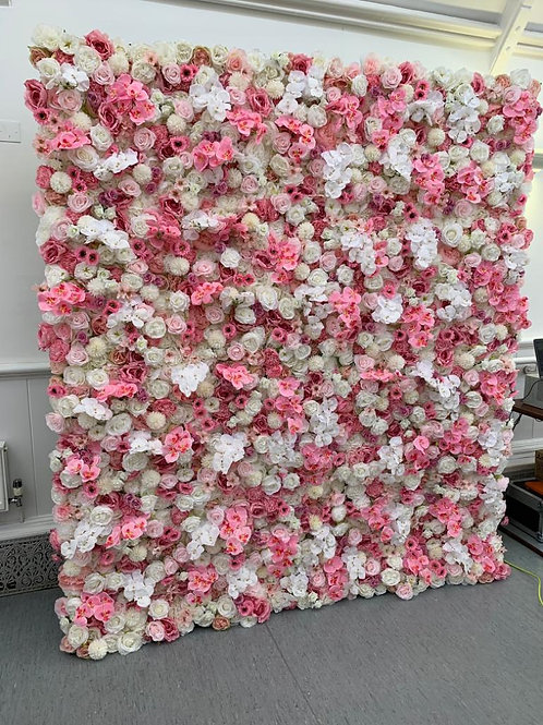 hot pink flowerwall, barbie wall, barbie flowerwall, orchid wall, orchid flowerwall, luxury walls,