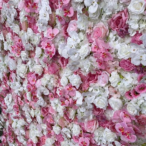 hot pink flowerwall, barbie wall, barbie flowerwall, orchid wall, orchid flowerwall, luxury walls,