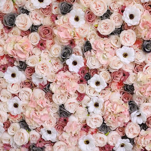 Blush FlowerWall, Paisley FlowerWall, Grey FlowerWall