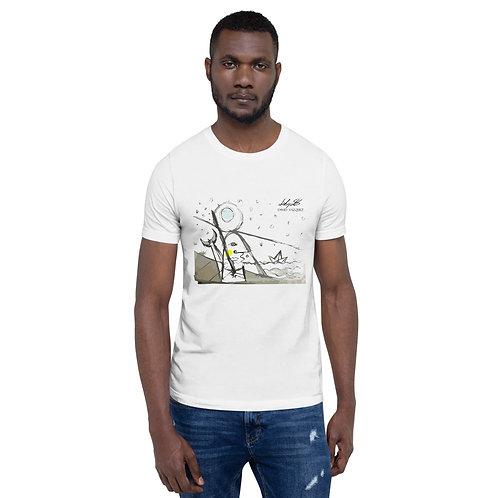 """Camiseta edición limitada """"Pescador bajo la luna"""" por David Vázquez"""