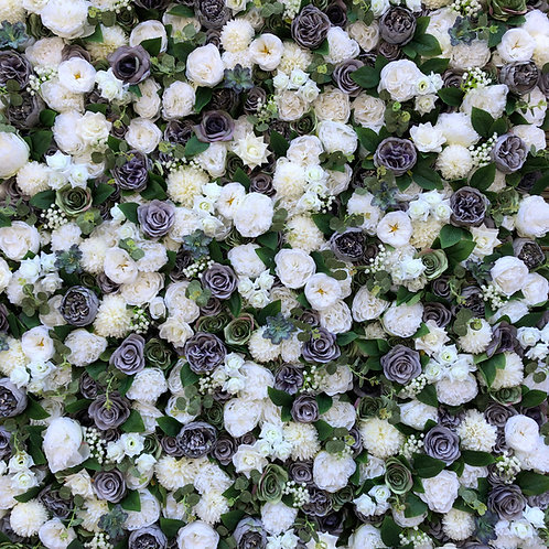 ivory flower wall, Foliage flower wall, ivory and grey flower wall, wedding flower wall