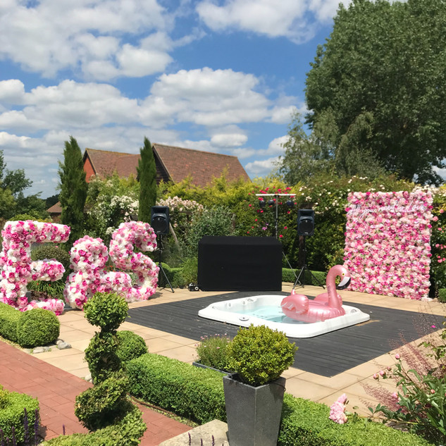 flower wall rental