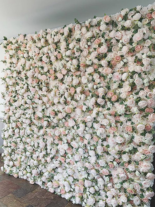 nude flower wall, blush pink flower wall, soft pink flower wall, baby shower flower wall, nursery flower wall, foliage wall