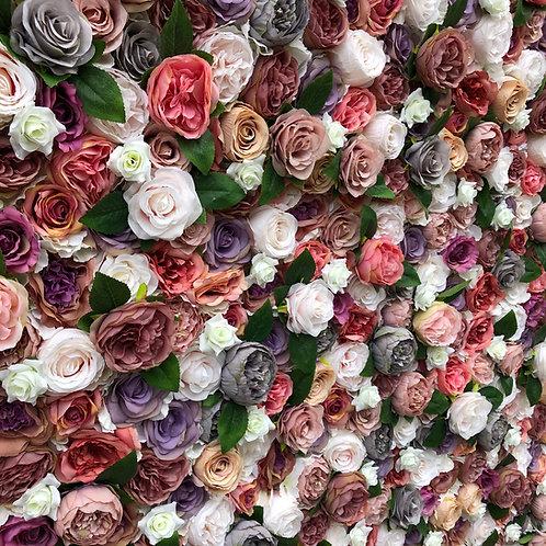 purple pink flowerwall, asian flowerwall, asian flower wedding, luxury flowerwall, luxury events, foliage wall