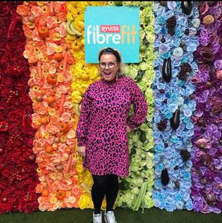 Rainbow flower wall