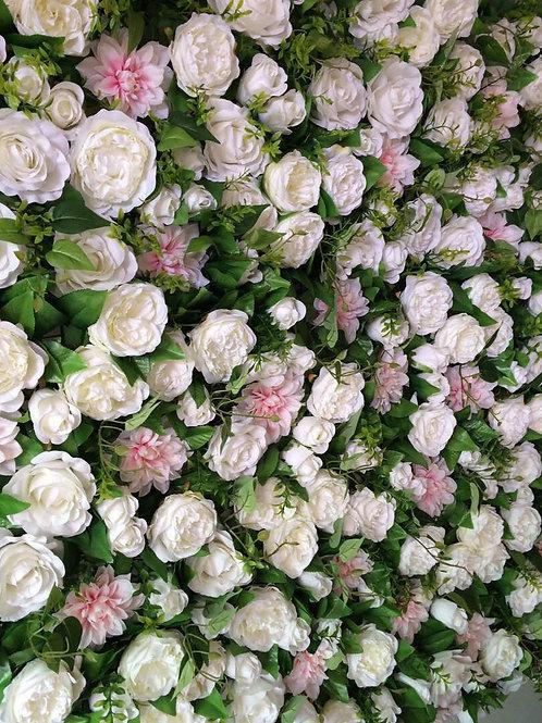 peony flower wall, pink flower wall