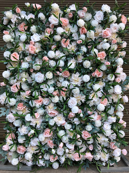 ivory and pink flowerwall ivory and pink flower wall foliage flowerwall foliage flower wall
