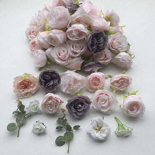 sienna flower heads
