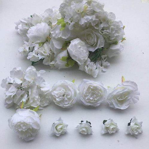 ivory flower heads