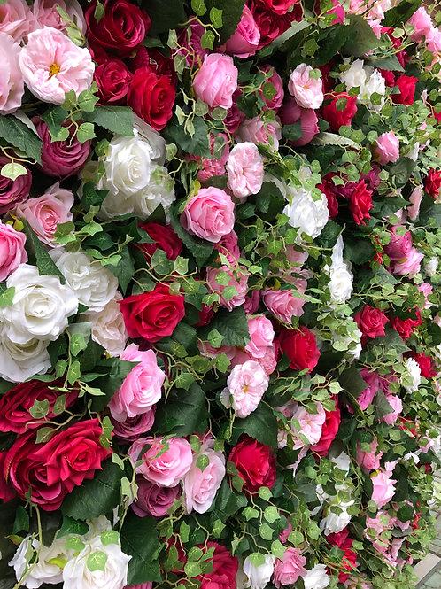 Nude, Blush and hotpink flowerwall nude flower wall blush flower wall hot pink flower wall foliage flowerwall