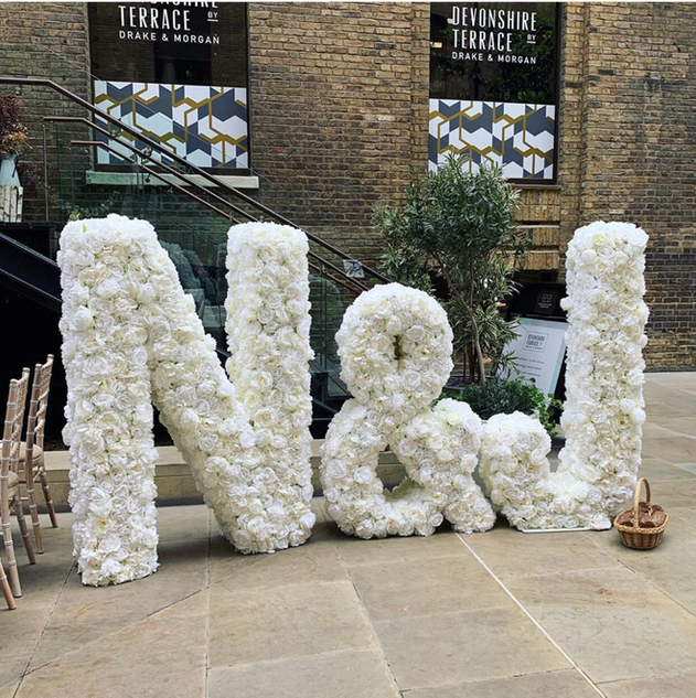 Floral Letters and Numbers