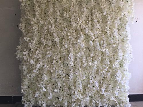 white flowerwall, wisteria flowerwall