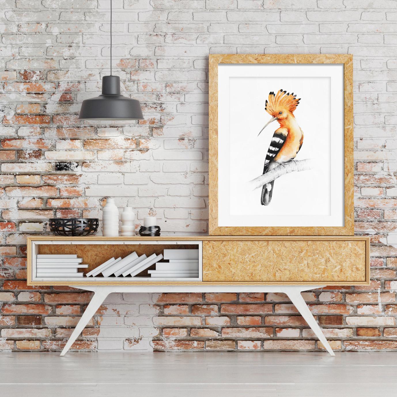 Framed hoopoe
