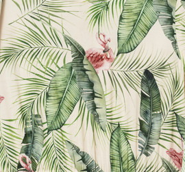 Karolina Kijak H&M, flamingo and leafs pattern
