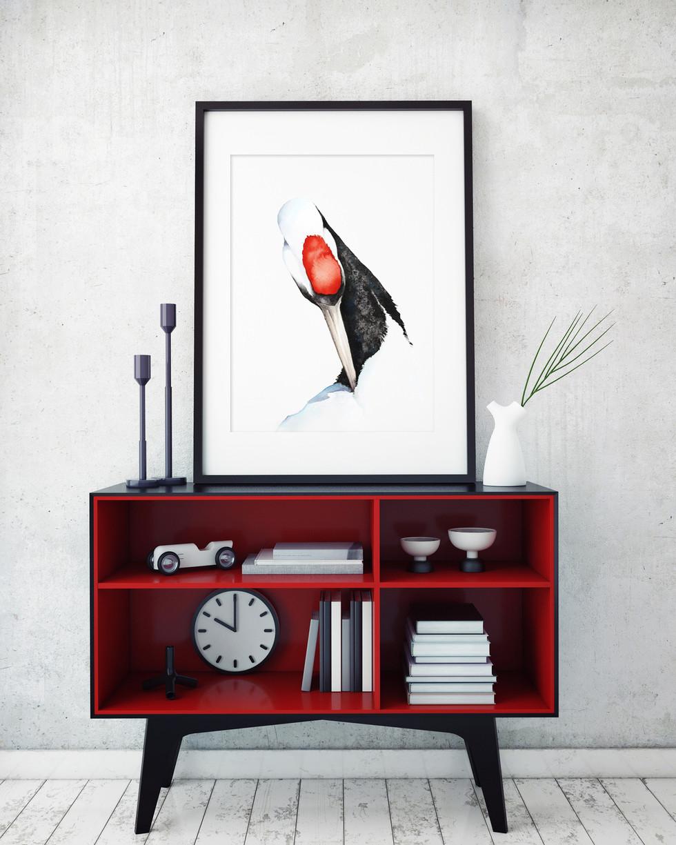 Crane portrait