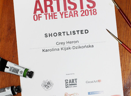 Czapla (Grey Heron) w finale Konkursu Artist of The Year 2018 magazynu Artists and Illustrators